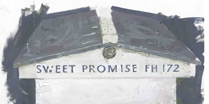 Sweet Promise FH172, 2012, Oil Paint On Paper 32 X 18 Cm